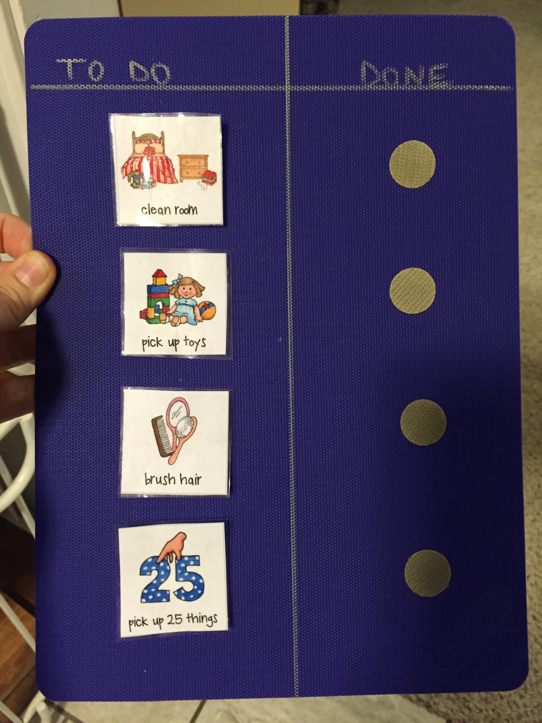 Responsibility Chart/To-Do for Preschoolers